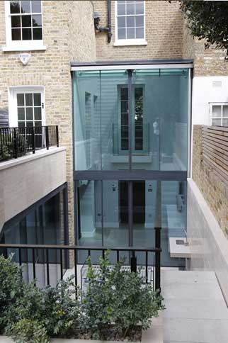 external glass box