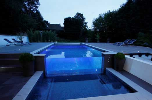 glazing in swimming pool