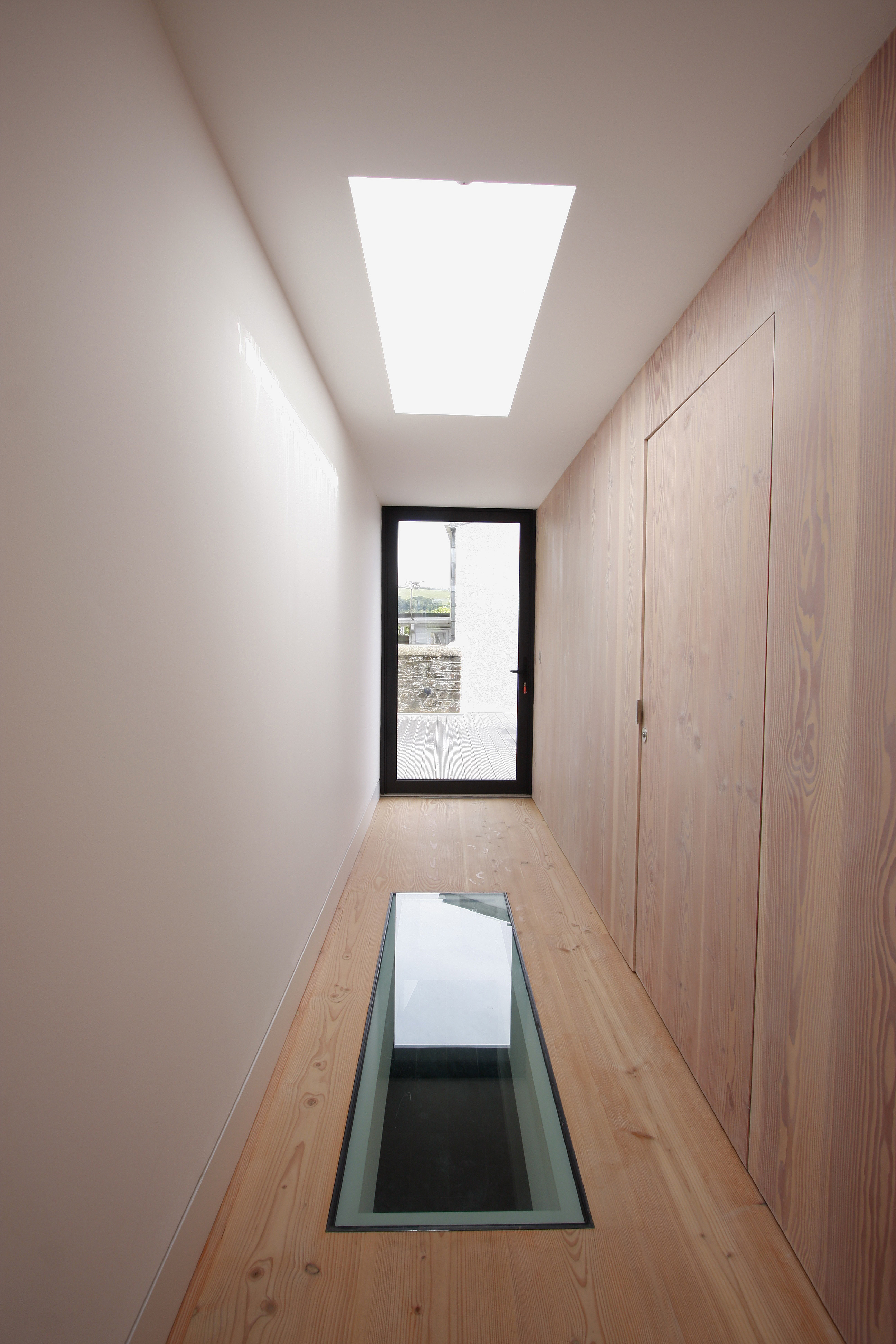 Skylight above a Walk on Glass Floor Unit