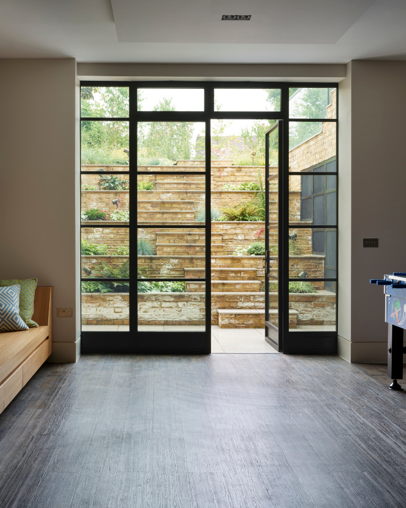 steel doors with applied glazing bars