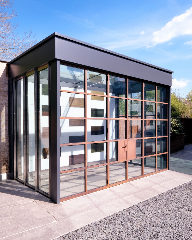 steel door showroom