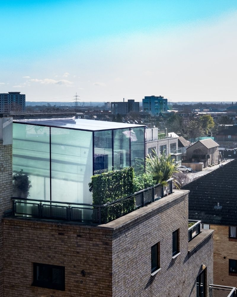 a rooftop glass box on south london