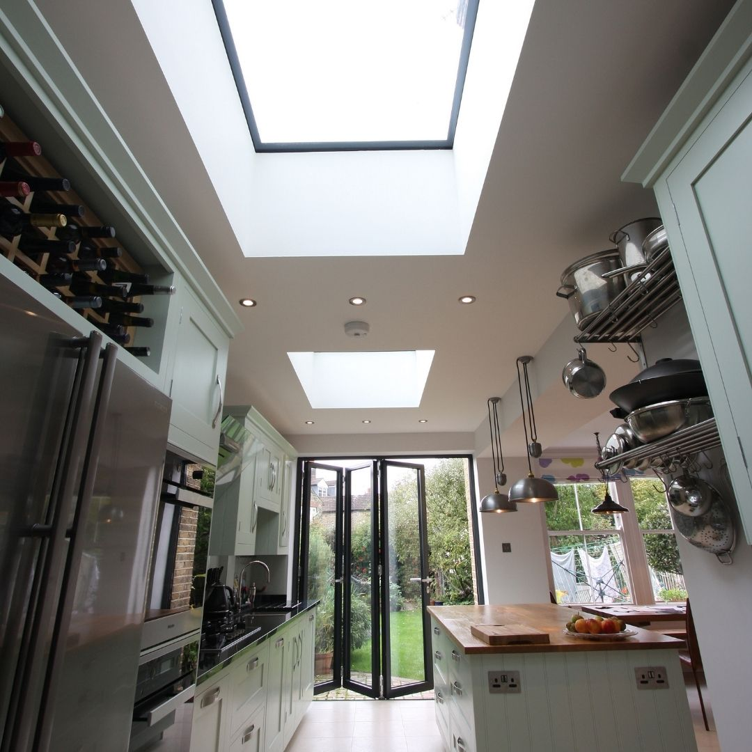 glass rooflights over to side infill extension in london
